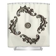 British Shilling Wall Art Version 1 Shower Curtain by Joseph Baril