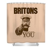 Britons Your Country Needs You  Shower Curtain by War Is Hell Store