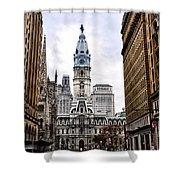 Broad Street Philadelphia Shower Curtain by Bill Cannon