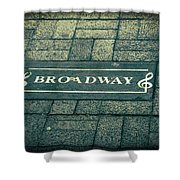Broadway Shower Curtain by Dan Sproul