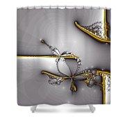 Broken Jewelry-fractal Art Shower Curtain by Lourry Legarde