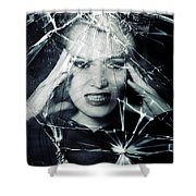 Broken Window Shower Curtain by Joana Kruse