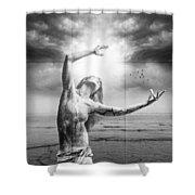 Broken World Shower Curtain by Erik Brede
