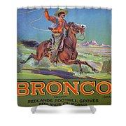 Bronco Oranges Shower Curtain by American School