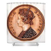 Bronze Empress Victoria Shower Curtain by Fred Larucci