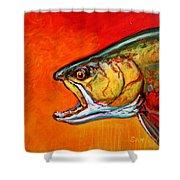 Brookie Portrait  Shower Curtain by Savlen Art