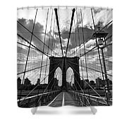 Brooklyn Bridge Shower Curtain by Delphimages Photo Creations
