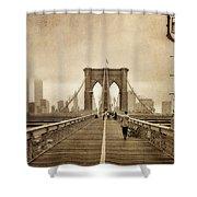 Brooklyn Memoirs Shower Curtain by Joann Vitali