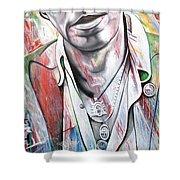 Bruce Springsteen Shower Curtain by Joshua Morton