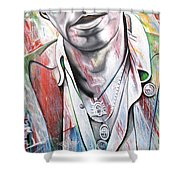 Bruce Springsteen Shower Curtain by Joshua Morton