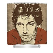 Bruce Springsteen Pop Art Shower Curtain by Jim Zahniser