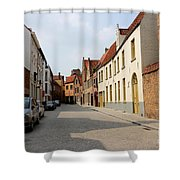 Bruges Side Street Shower Curtain by Carol Groenen