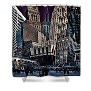 Bryant Park Collage Shower Curtain by Chris Lord