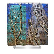 Bryant Park Shower Curtain by Mariola Bitner