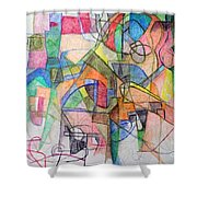 bSeter Elyion 28 Shower Curtain by David Baruch Wolk
