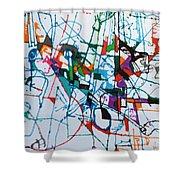bSeter Elyion 30 Shower Curtain by David Baruch Wolk