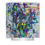 bSeter Elyion 32 Shower Curtain by David Baruch Wolk