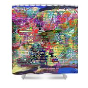 bSeter Elyion 7 Shower Curtain by David Baruch Wolk