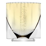Bubbles In Champagne Shower Curtain by Johan Swanepoel