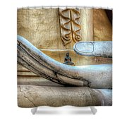 Buddha's Hand Shower Curtain by Adrian Evans