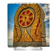 Buddhist Icon Shower Curtain by Adrian Evans
