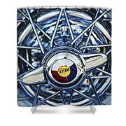 Buick Skylark Wheel Shower Curtain by Jill Reger