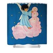 Building A Cloudman Shower Curtain by Pamela Allegretto