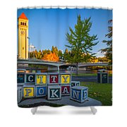 Building The City Shower Curtain by Inge Johnsson