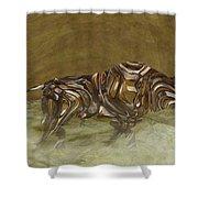 Bull Shower Curtain by Jack Zulli