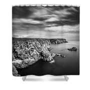 Bullers of Buchan Cliffs Shower Curtain by Dave Bowman