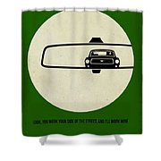 Bullitt Poster Shower Curtain by Naxart Studio