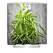 Bunch Of Fresh Rosemary Shower Curtain by Elena Elisseeva