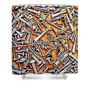 Bunch Of Screws 1- Digital Effect Shower Curtain by Debbie Portwood