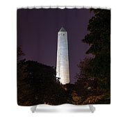 Bunker Hill Monument - Boston Shower Curtain by Joann Vitali