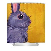 Bunny Shower Curtain by Nancy Merkle