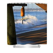 Buoy 2 Shower Curtain by Michael Mooney