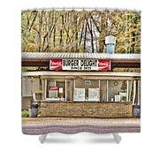 Burger Delight Shower Curtain by Scott Pellegrin