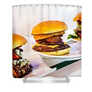 Burger Time Shower Curtain by Kelley King