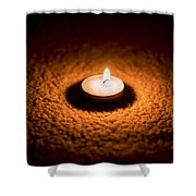 Burning Candle Shower Curtain by Aged Pixel