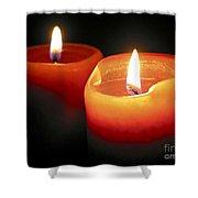 Burning candles Shower Curtain by Elena Elisseeva