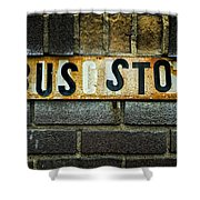 Bus Stop Shower Curtain by Jeff Burton
