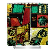 Business Shower Curtain by Leon Zernitsky