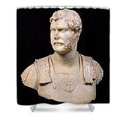 Bust of Emperor Hadrian Shower Curtain by Anonymous