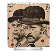 Butch Cassidy And The Sundance Kid Shower Curtain by Movie Poster Prints