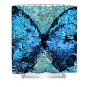 Butterfly Art - D11bl02t1c Shower Curtain by Variance Collections