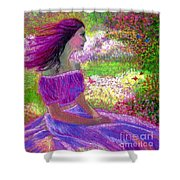 Butterfly Breezes Shower Curtain by Jane Small
