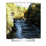 Buttermilk Falls Ithaca New York Shower Curtain by Rose Santuci-Sofranko