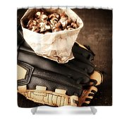 Buy Me Some Peanuts And Cracker Jack Shower Curtain by Edward Fielding