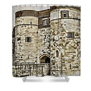 Byward Tower Shower Curtain by Heather Applegate