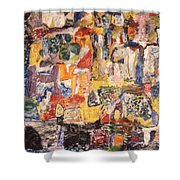Byzantine Characters #1 Shower Curtain by Richard Baron